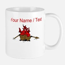 Custom Red Dragon On Boat Mugs