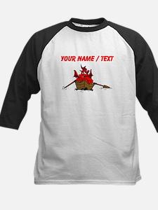 Custom Red Dragon On Boat Baseball Jersey