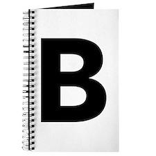 Letter B Black Journal