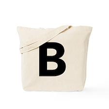 Letter B Black Tote Bag