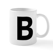 Letter B Black Mugs