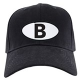 Letter b Baseball Cap with Patch