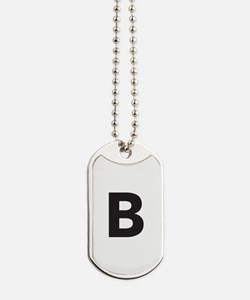 Letter B Black Dog Tags