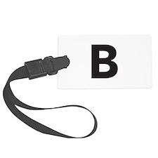 Letter B Black Luggage Tag