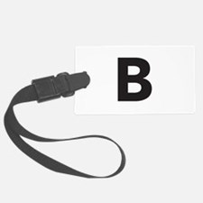 Letter B Black Luggage Tag
