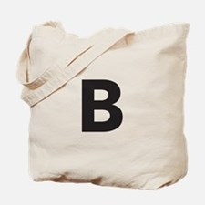 Letter B Black Tote Bag