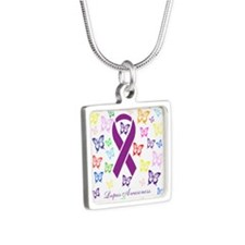 Lupus Multicolored Butterfly Awareness Necklaces