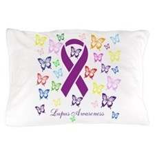 Lupus Multicolored Butterfly Awareness Pillow Case