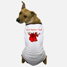 Custom Red Dragon Wagging Tail Dog T-Shirt