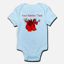 Custom Red Dragon Wagging Tail Body Suit