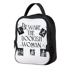 Beware The Bookish Woman Neopre Neoprene Lunch Bag