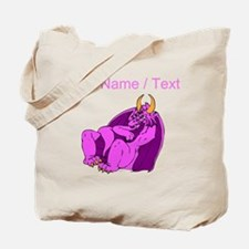 Custom Pink Relaxing Dragon Tote Bag