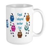 Crazy cat lady Large Mugs (15 oz)