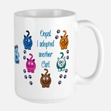 Oops! I Adopted Another Cat! Large Mug