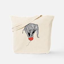 Flying Elephant Zebra Tote Bag