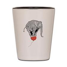 Flying Elephant Zebra Shot Glass