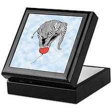 Flying Elephant Zebra Keepsake Box