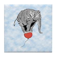 Flying Elephant Zebra Tile Coaster