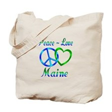Peace Love Maine Tote Bag