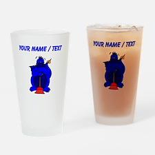 Custom Blue Plumber Dragon Drinking Glass