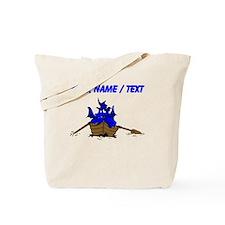 Custom Blue Dragon On Boat Tote Bag