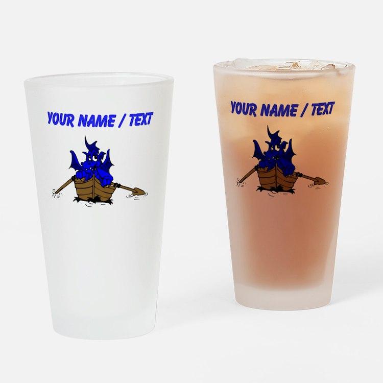 Custom Blue Dragon On Boat Drinking Glass