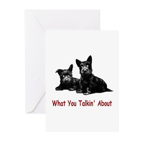WHAT YOU TALKIN' ABOUT Greeting Cards (Package of