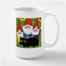 Black CAT and Garden Gnomes Mugs