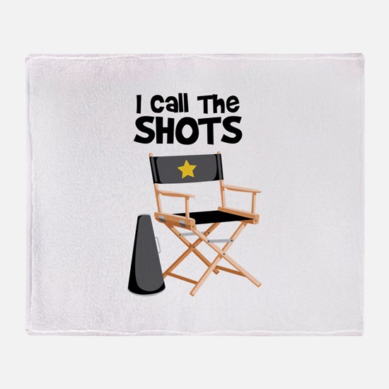 I Call the Shots Throw Blanket