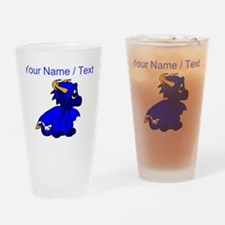 Custom Blue Baby Dragon Drinking Glass