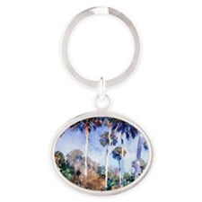 Palms, painting by John Singer Sarge Oval Keychain