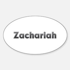 Zachariah Metal Oval Decal