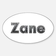 Zane Metal Oval Decal
