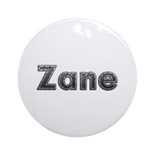 Zane Metal Round Ornament