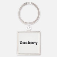 Zachery Metal Square Keychain