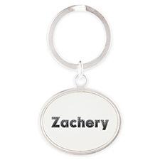 Zachery Metal Oval Keychain