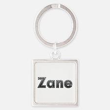 Zane Metal Square Keychain