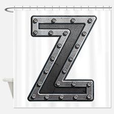 Z Metal Shower Curtain
