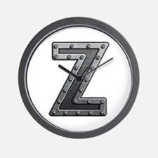 Z Metal Wall Clock