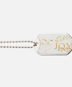 Joy (With Dove Of Peace) Dog Tags