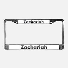 Zachariah Metal License Plate Frame