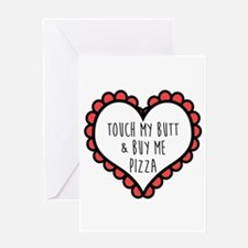 Pizza Love Greeting Cards