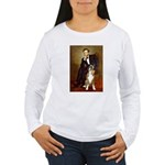 Lincoln & his Boxer Women's Long Sleeve T-Shirt