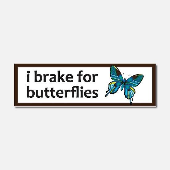 I brake for butterflies bumper sticker Car Magnet
