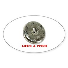 PITCH PIPE Oval Decal