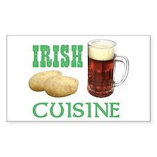 Irish Cuisine Beer Humor Decal