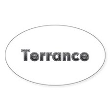 Terrance Metal Oval Decal