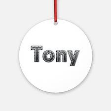 Tony Metal Round Ornament