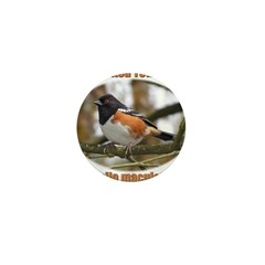 Spotted Towhee Mini Button