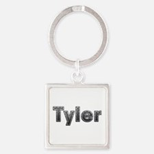 Tyler Metal Square Keychain